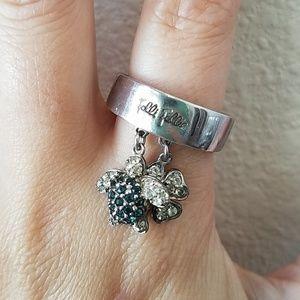 Folli Follie Sterling Silver Turtle Dangle Ring